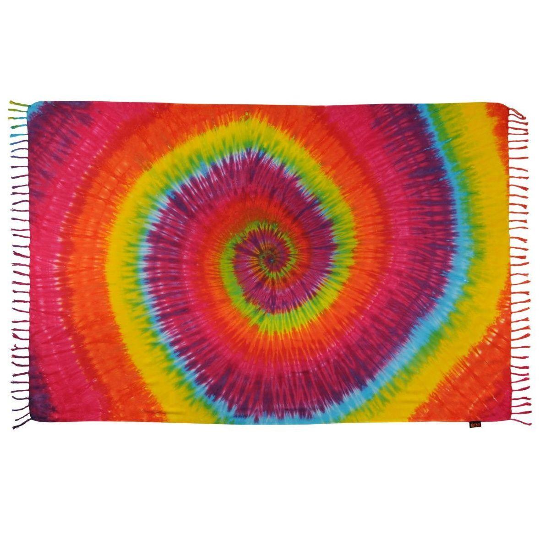 Plážový šátek sarong, pareo Spirála letní