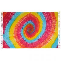 Šátek sarong Spirála podzimní