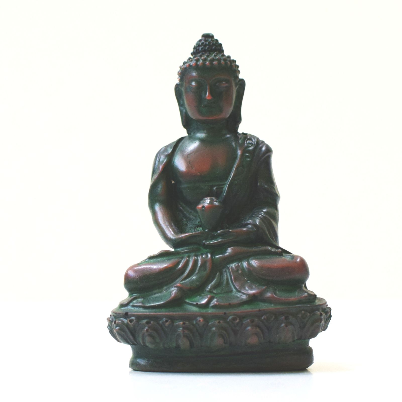 Soška Buddha resin zelený 9 cm