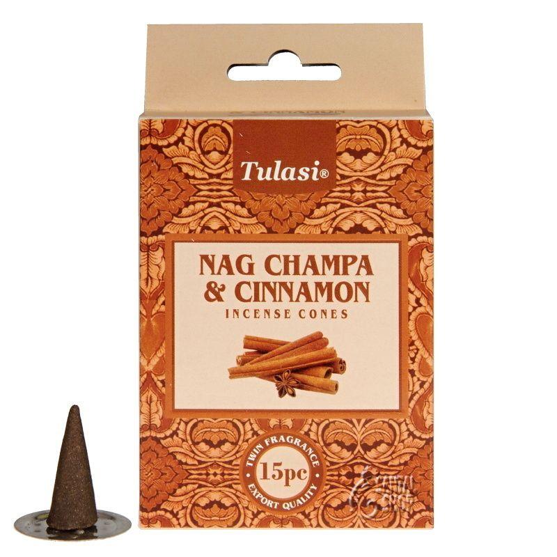Tulasi Nag Champa Cinnamon indické vonné františky 15 ks