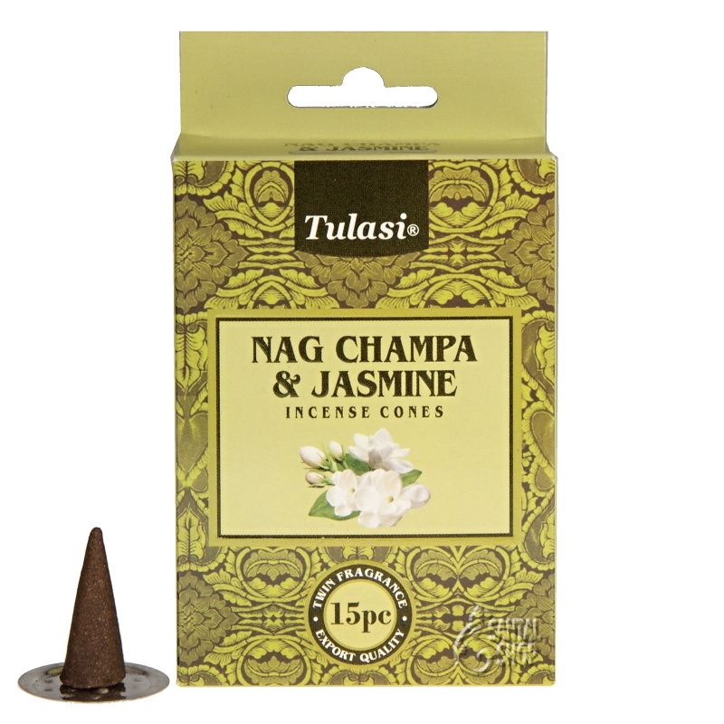 Tulasi Nag Champa Jasmine indické vonné františky 15 ks