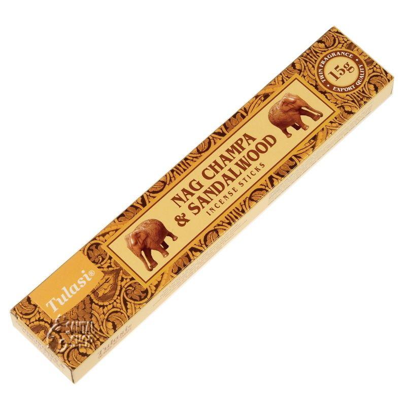 Tulasi Nag Champa Sandalwood indické vonné tyčinky 15 g