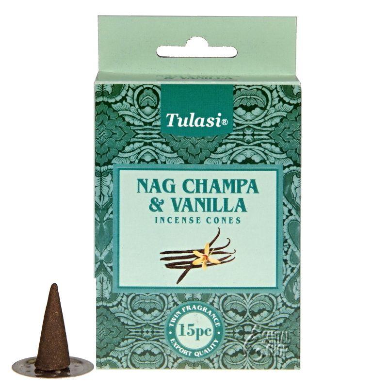 Tulasi Nag Champa Vanilla indické vonné františky 15 ks
