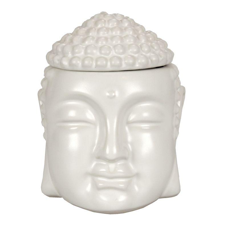 Aromalampa Buddha 15 cm bílá