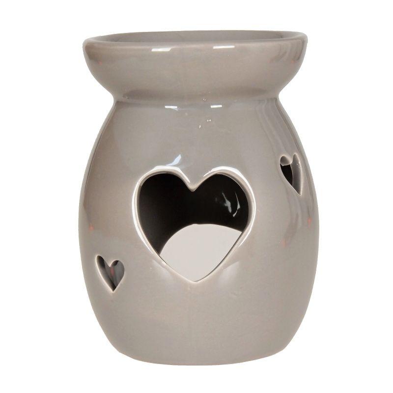 Aromalampa Srdce 14 cm šedá