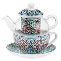 Čajová souprava Maroko 0,32 l porcelán a sklo