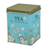 Dóza na čaj Blooming modrá 100 g