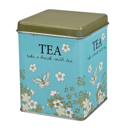 Dóza na čaj Blooming modrá 100 g plechová