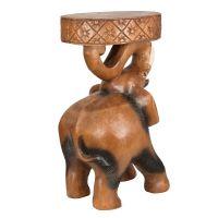 Dřevěný stolek Slon 52 cm na chobotu