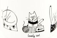 Hrnek Kočka 380 ml bílý porcelánový