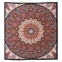 Přehoz Galaxy fialovo-okrový 240 x 200 cm
