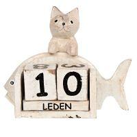 Kalendář Kočka s rybou 14 cm