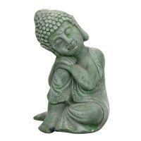 Soška Buddha zahradní beton 17 cm zelená