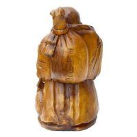 Soška Hotei smějící se buddha dřevo 40 cm