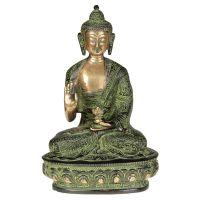 Soška Buddha kov 21 cm patina