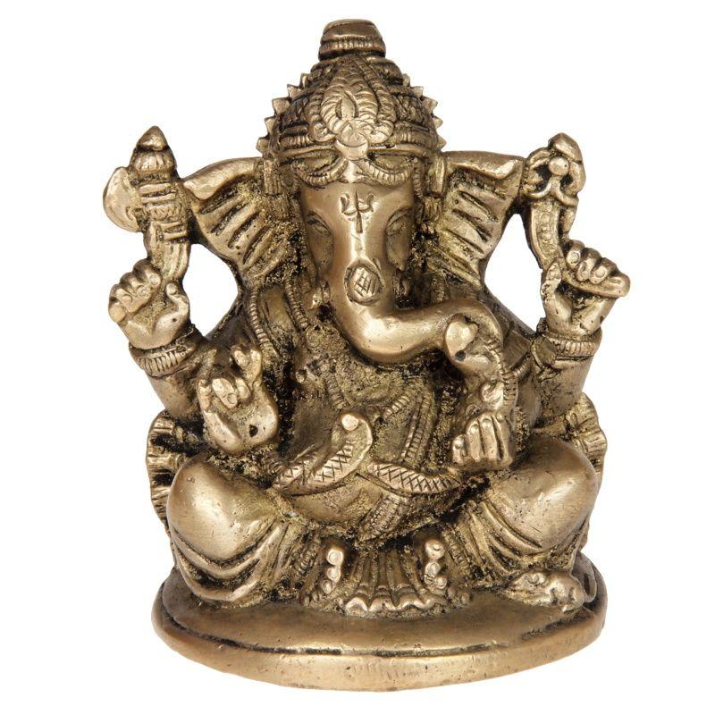 Soška kovová Ganesh 10 cm II