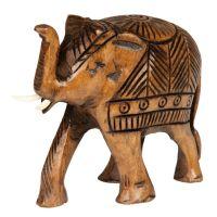 Soška Slon dřevo 7 cm zdobený
