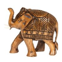 Soška Slon dřevo 07 cm zdobený