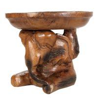 Soška Slon dřevo 20 cm miska