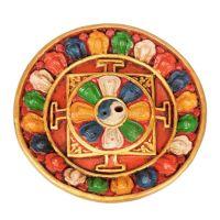 Stojánek na vonné tyčinky keramický Tibet Mandala 12 cm