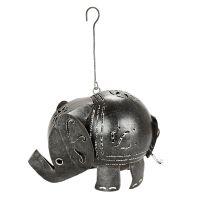 Svícen Slon kov 13 cm závěsný