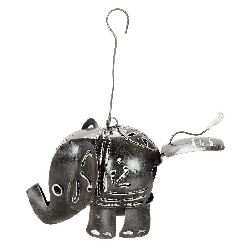 Svícen Slon kov 9 cm závěsný