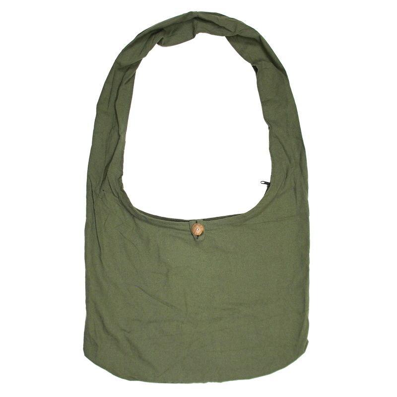 Taška přes rameno bavlněná khaki