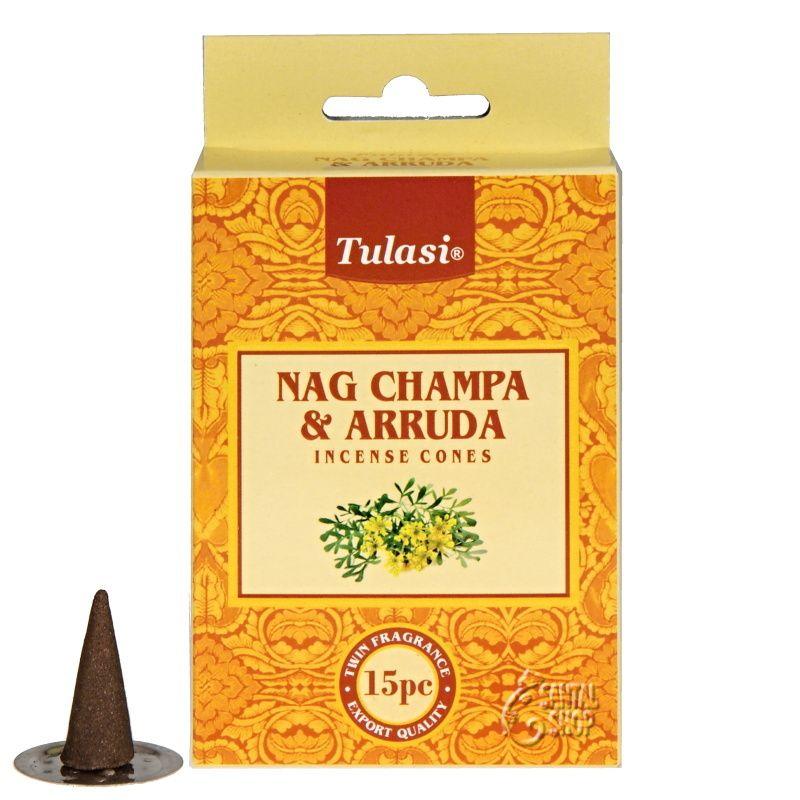 Tulasi Nag Champa Arruda - Routa vonná indické vonné františky 15 ks