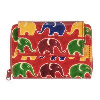 Dámská kožená peněženka Easy Sloni červená 13 x 10 cm