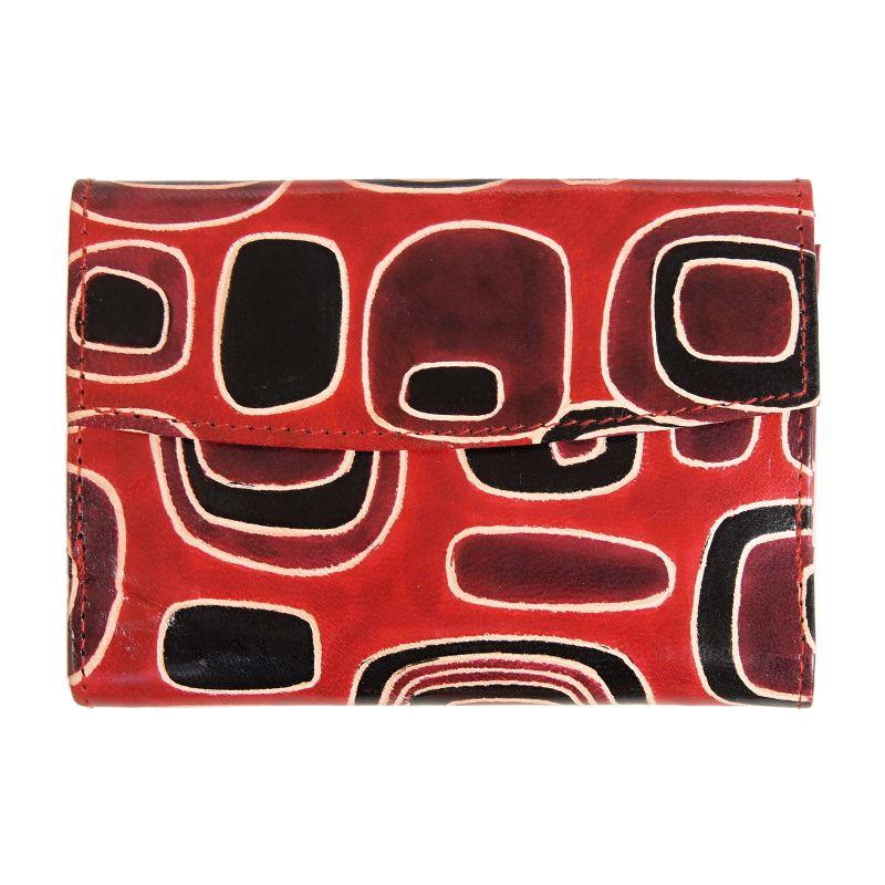 Dámská kožená peněženka Envelope Colours červená 14 x 10 cm