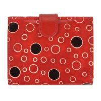 Dámská kožená peněženka Miss Rings červená 12 x 10 cm