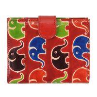 Dámská kožená peněženka Miss Slon červená 12 x 10 cm