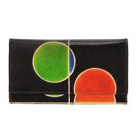 Kožená peněženka Slim London černá