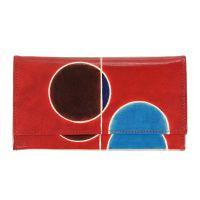 Kožená peněženka Slim London červená