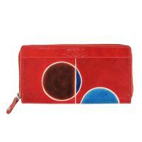 Kožená peněženka Symmetry London červená