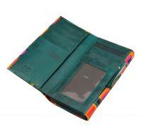 Dámská kožená peněženka Woman Vídeň zelená 18,5 x 10 cm