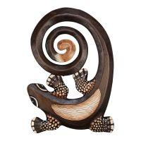 Dekorace na stěnu Ještěrka dřevo 30 cm spirála