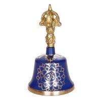 Dilbu tibetský zvonek 13 cm Čakra modrý