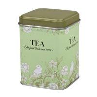 Dóza na čaj Blooming zelená 50 g plechová