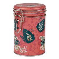 Dóza na čaj Čajová siesta 200 g kulatá s klipem