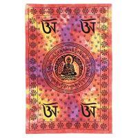 Přehoz Buddha červeno-žlutý 210 x 140 cm