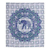 Přehoz Elephant Flower fialový 220 x 210 cm