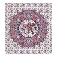 Přehoz Elephant Flower růžový 220 x 210 cm
