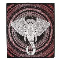 Přehoz Ethno Elephant červený 220 x 210 cm