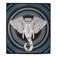 Přehoz Ethno Elephant modrý 220 x 210 cm