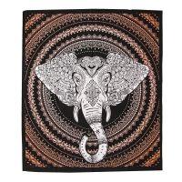 Přehoz Ethno Elephant oranžový 220 x 210 cm