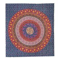 Přehoz Flower Mandala fialový 220 x 210 cm