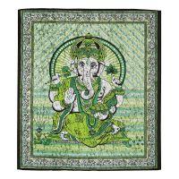 Přehoz Ganesh zelený 220 x 210 cm