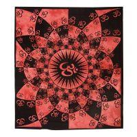 Přehoz Om Shine červený 220 x 210 cm