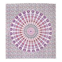 Přehoz Owl Mandala fialový 220 x 210 cm
